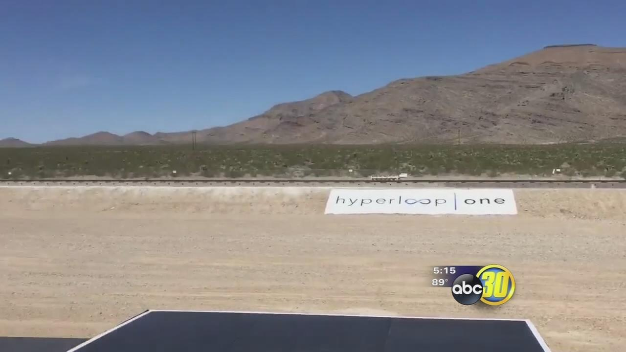 Hyperloop technology tested in Las Vegas deser