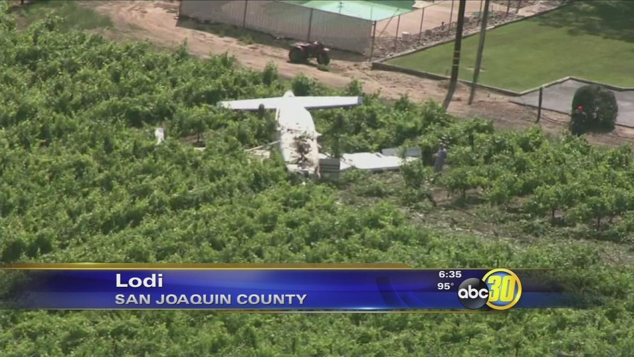 Small plane carrying 17 skydivers crashes in Lodi
