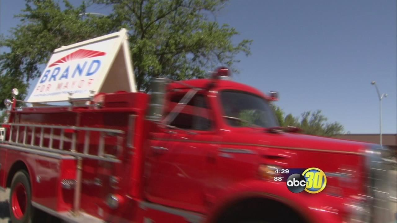 Fresno firefighters vexed by fire truck used in political campaign