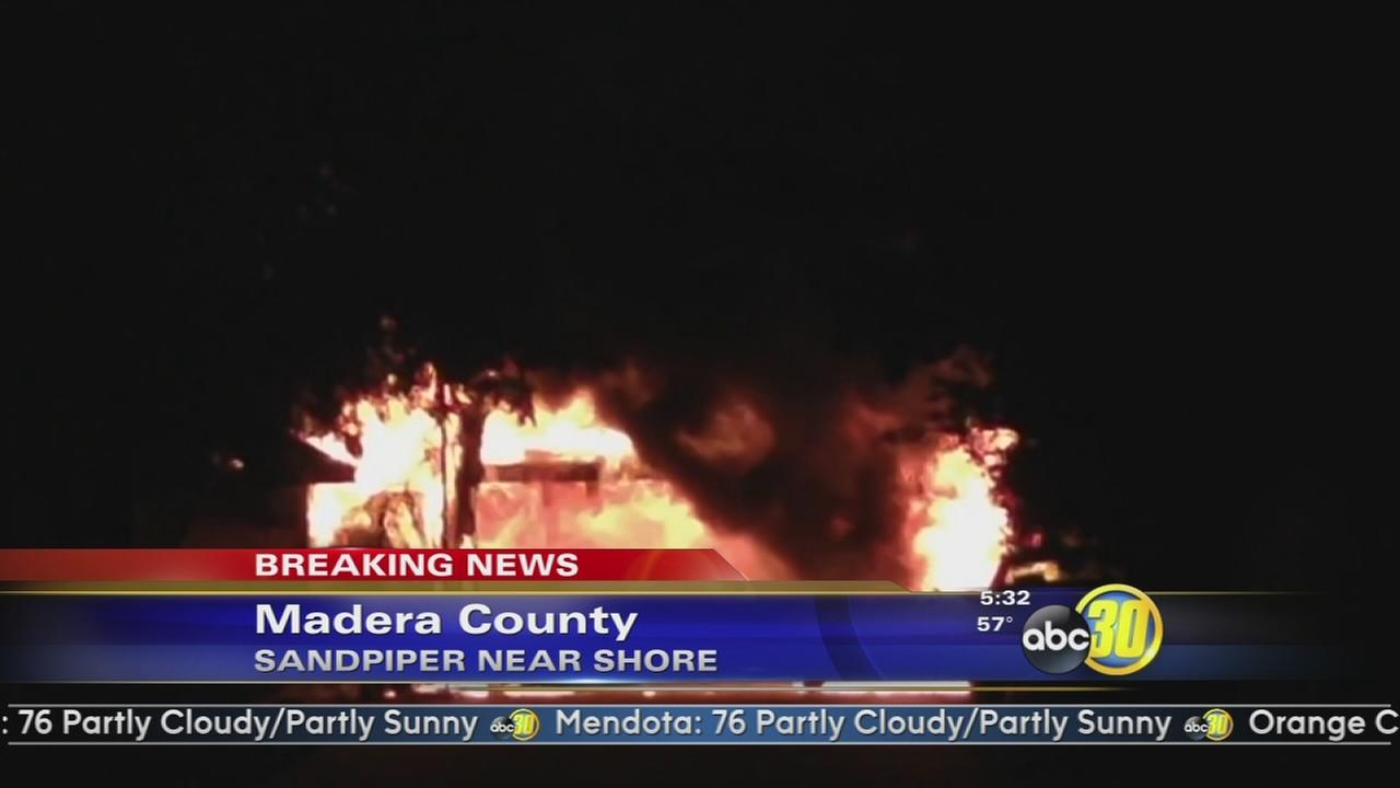 Madera home destroyed in fire