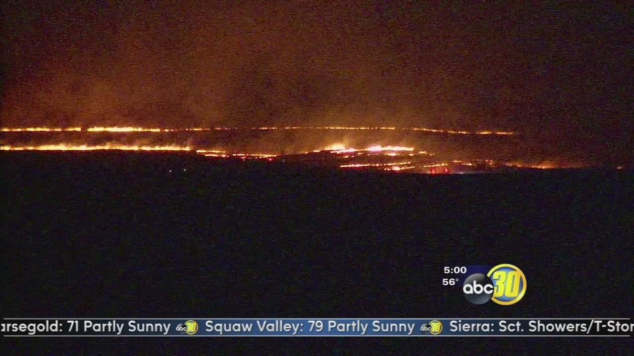 Grass fire burns 200 acres northeast of Clovis