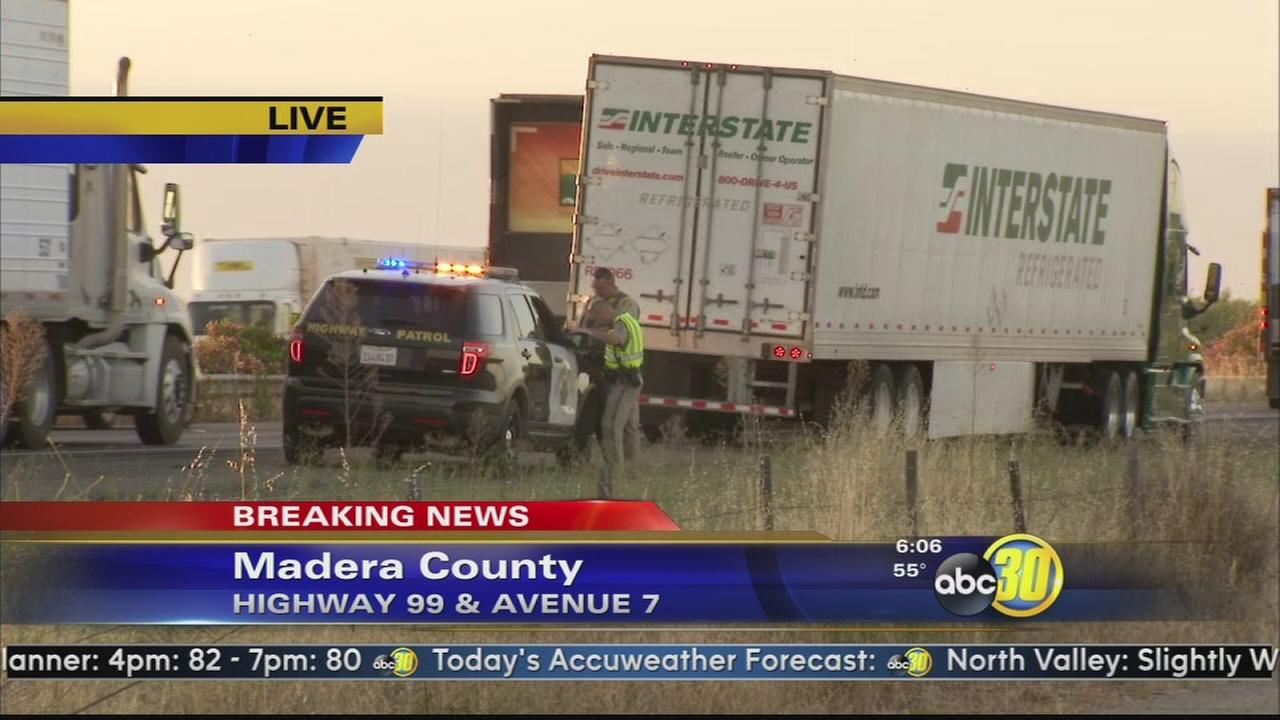 Pedestrian hit and killed on Highway 99 in Madera County