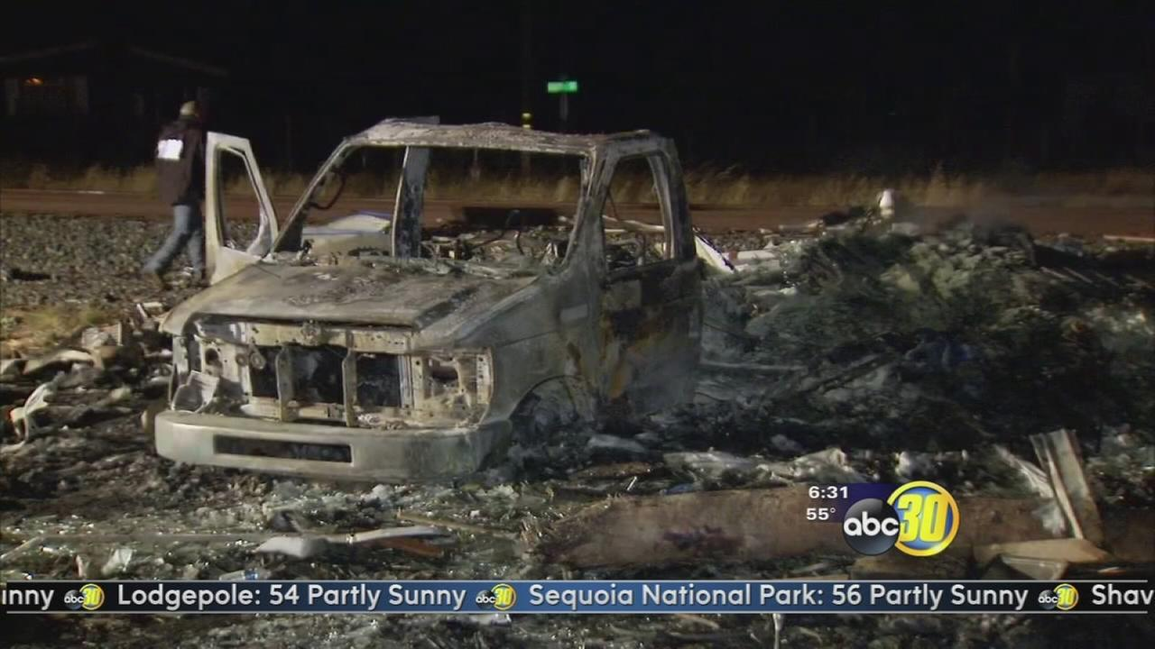 3 people are dead following a fiery crash in Madera