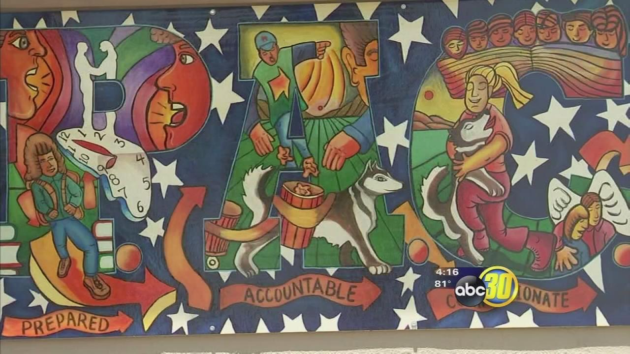 Merced middle school students celebrated mural painted by students and local artist