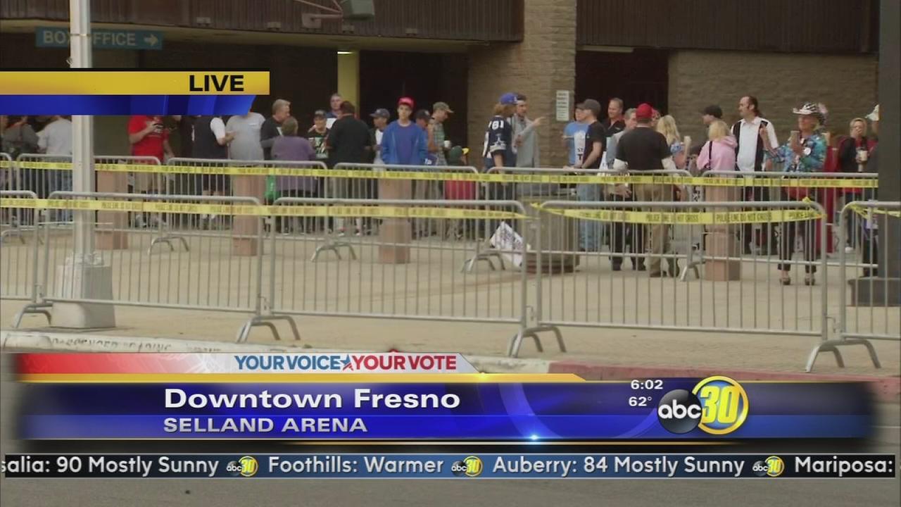 Donald Trump visits Fresno