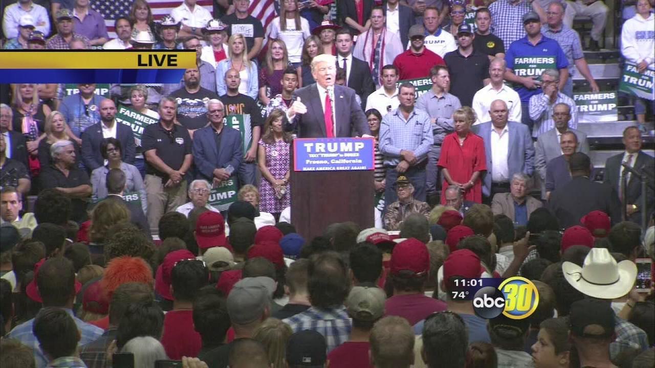 Trump visits Fresno
