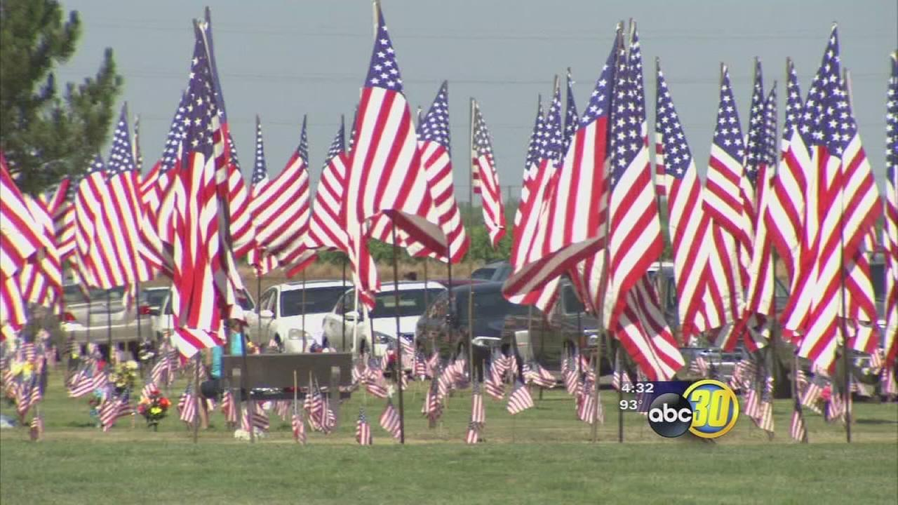 People gathered at Fresno Memorial Gardens to honor fallen soldiers on Memorial Day