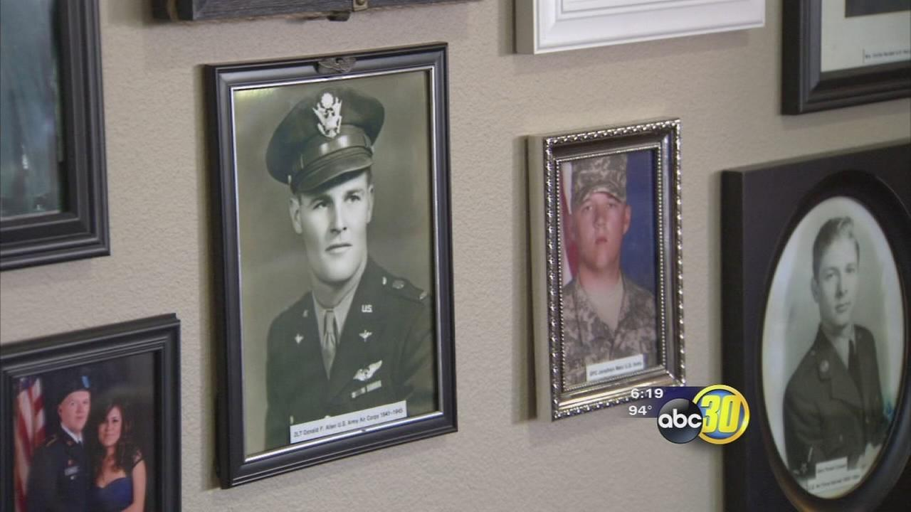 Assisted living center in North Fresno revealed honor wall for Memorial Day