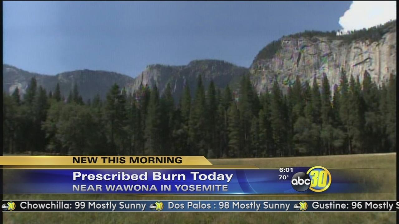 Authorities to set prescribed fire in Yosemite