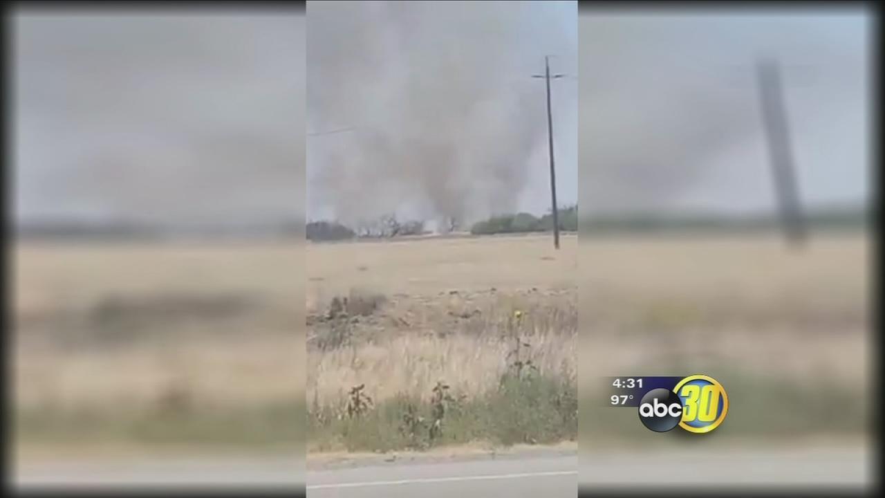 Fire burns more than 200 acres near Naval Air Station Lemoore