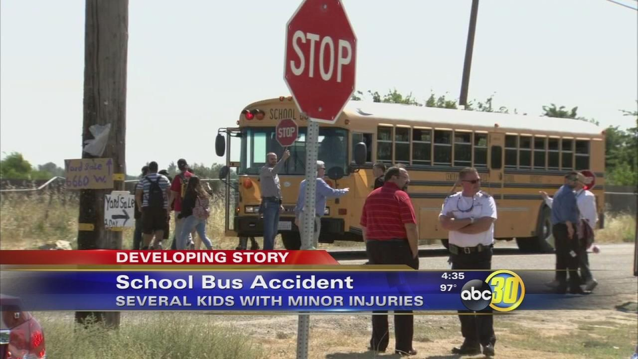 2 students sent to hospital after bus crash in West Central Fresno