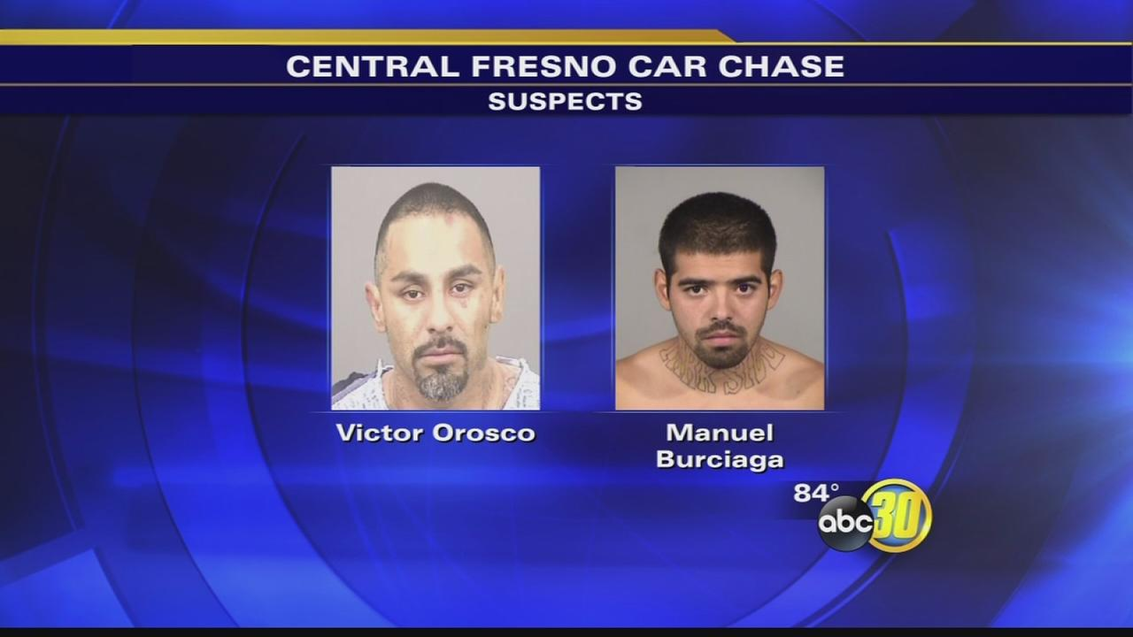 Police pursuit through Fresno ends with armed gang members arrested