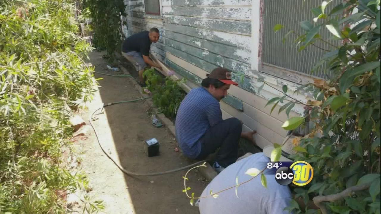 Volunteers restore WW2 vets Tulare County home