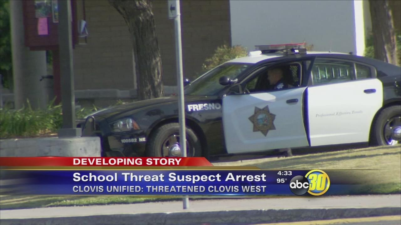 Arrest made in Clovis West High School threat