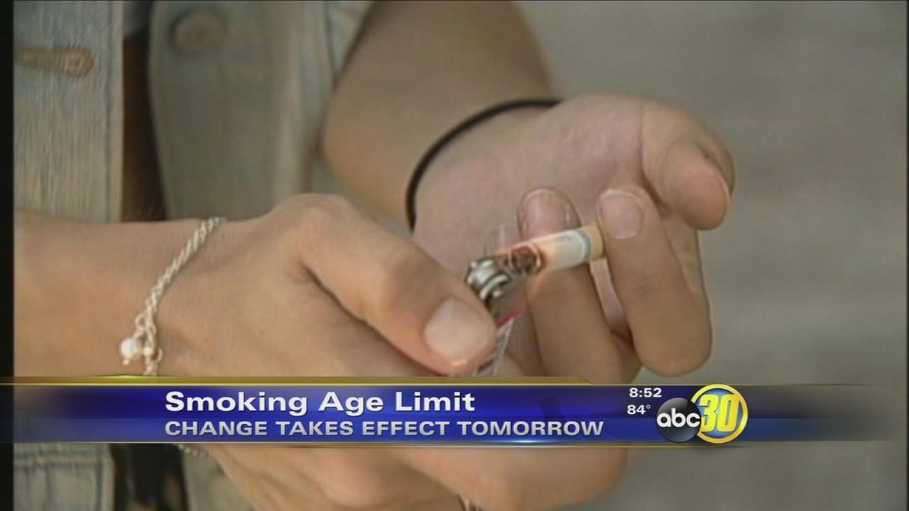 Californias smoking age goes up to 21 on Thursday