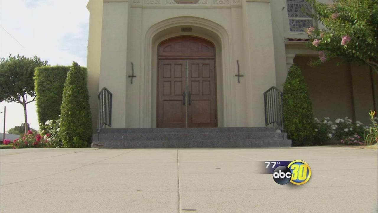 Catholic Church in Tower District vandalized with upside down crosses