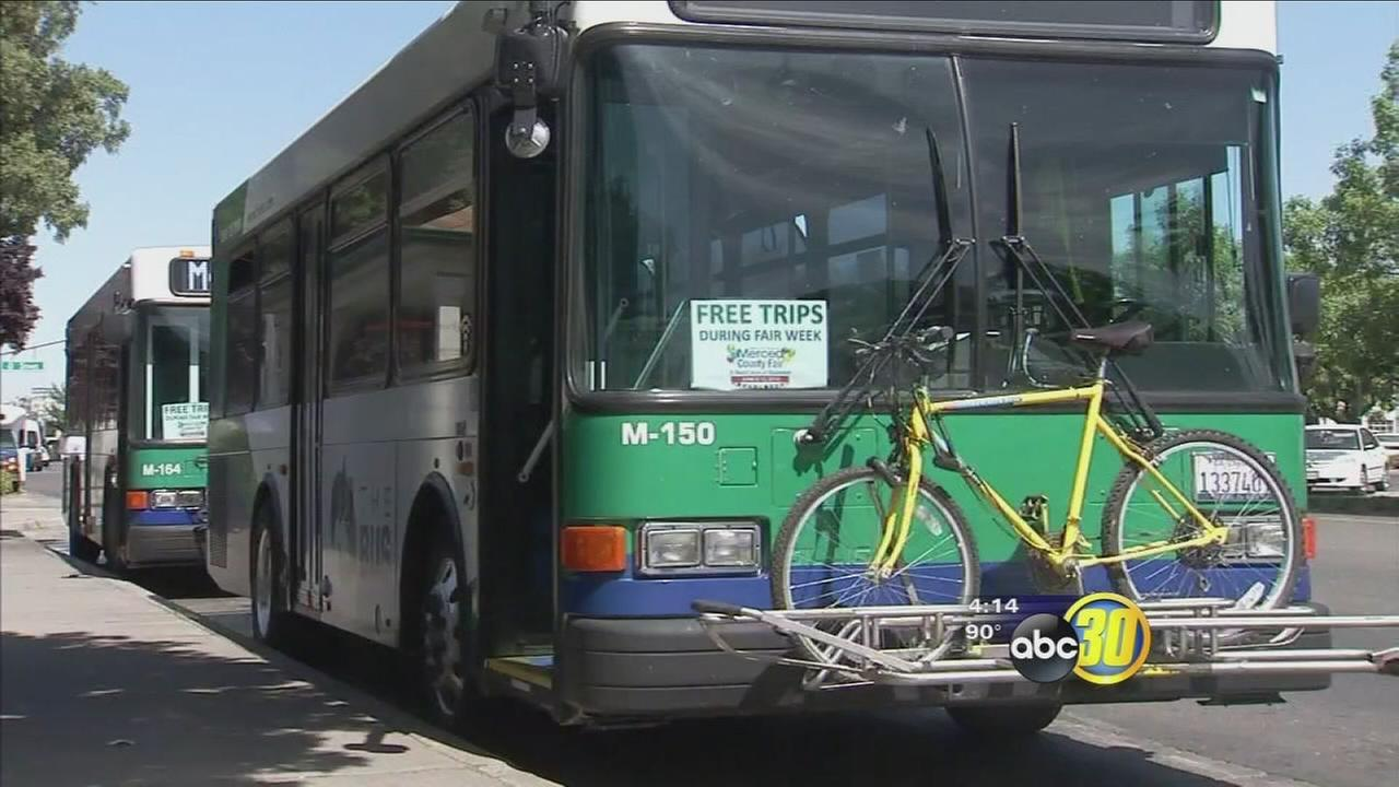 Residents in Merced will get a chance to ride the bus for free this month