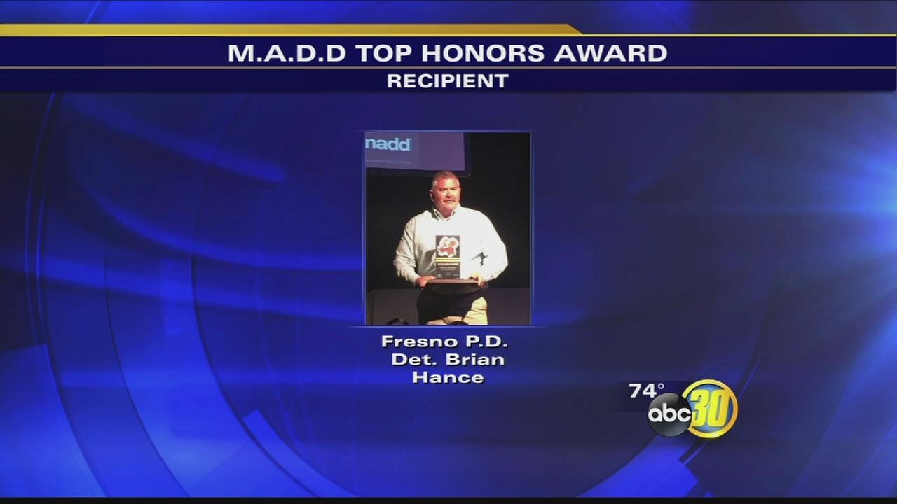Fresno Police officer recognized for work investigating DUI crashes