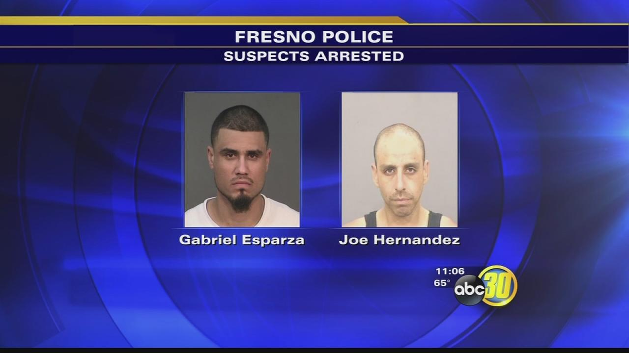 2 gang members arrested, one with stolen gun belonging to Fresno County Deputy
