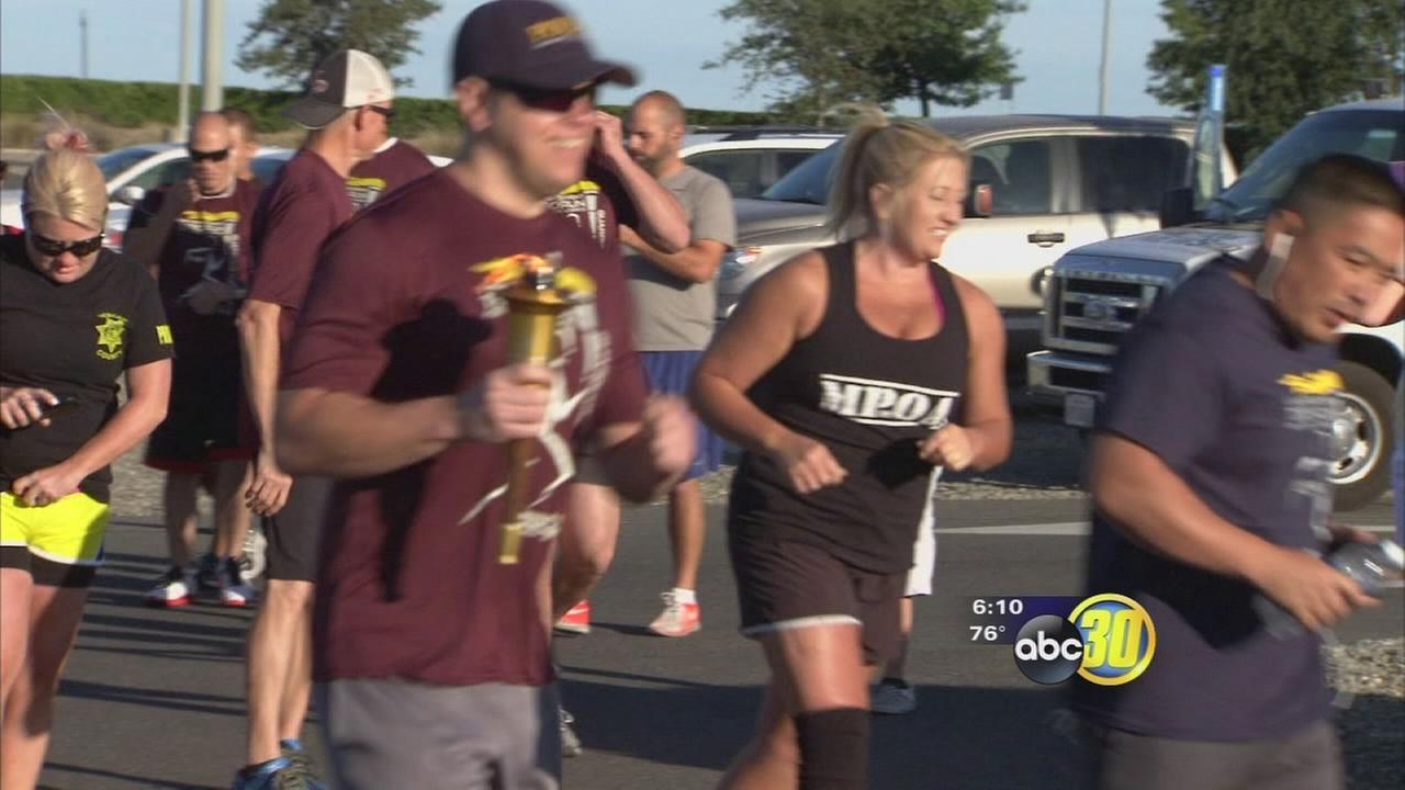 Special Olympics torch makes run through Merced