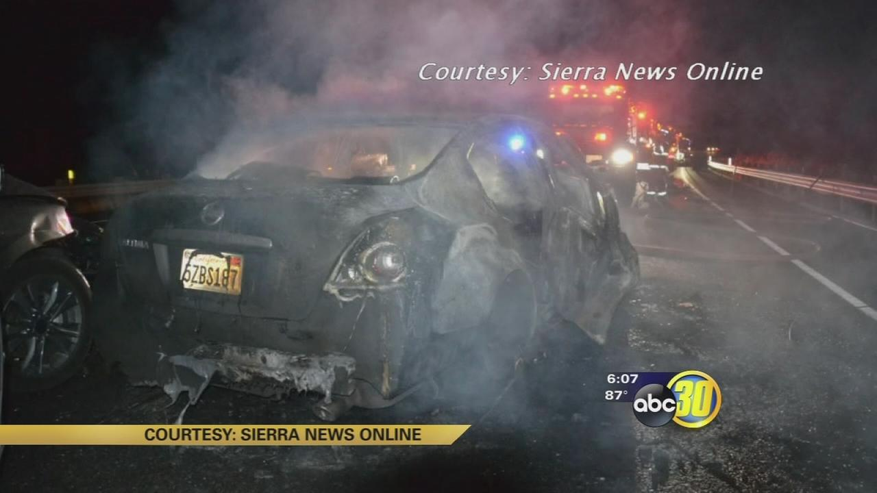 3 car crash kills one and injures 4, including 2-year-old in Madera County