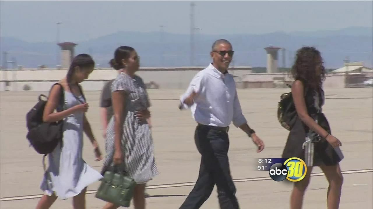 Obama family concludes historic visit to Yosemite