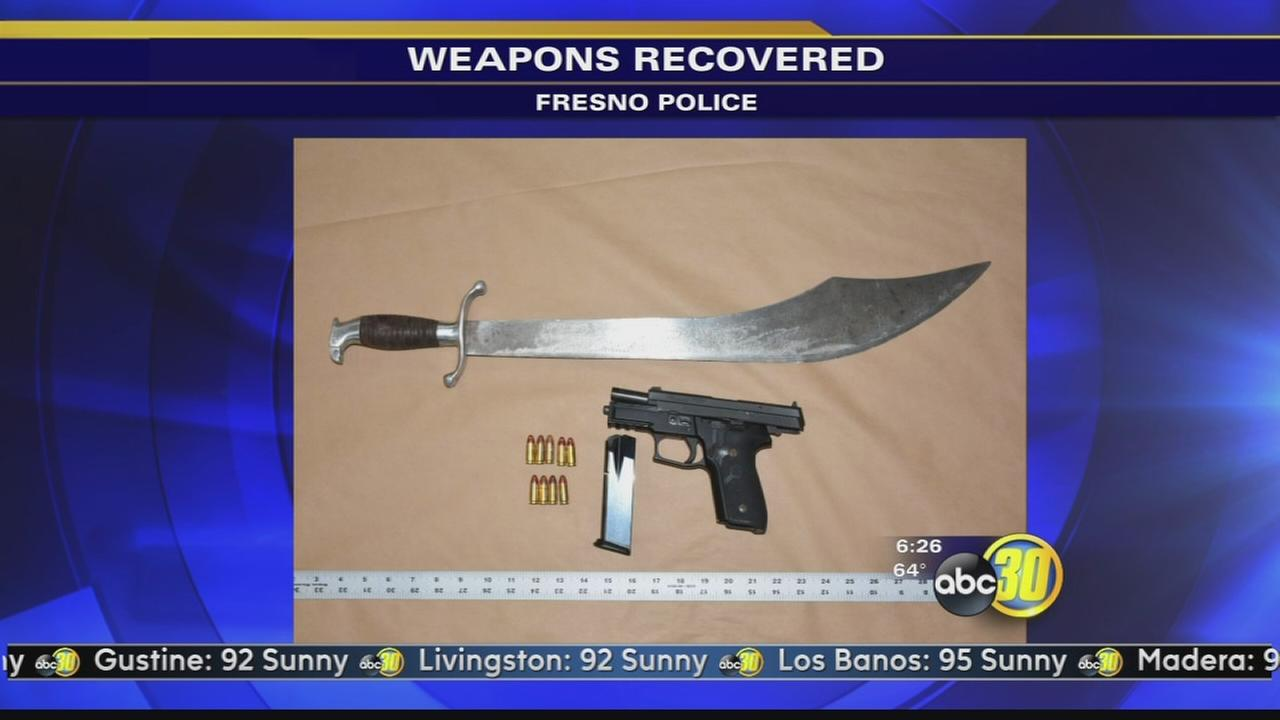 Fresno police arrest man for waving sword around in Northwest Fresno