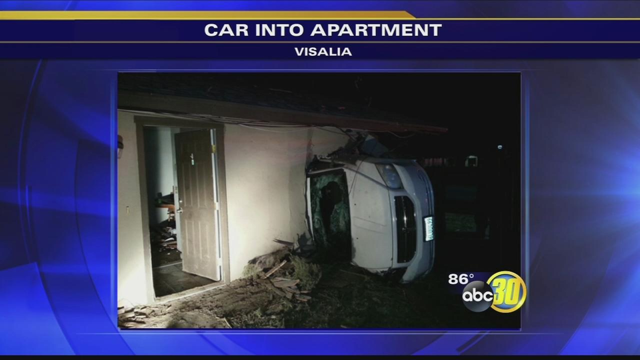 South Valley woman homeless after car runs into apartment