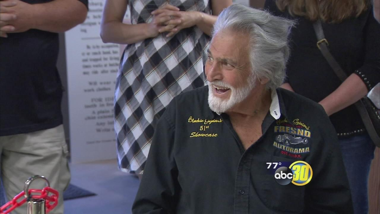 Racing legend honored with 90th birthday celebration and statue at Fresno Fairgrounds