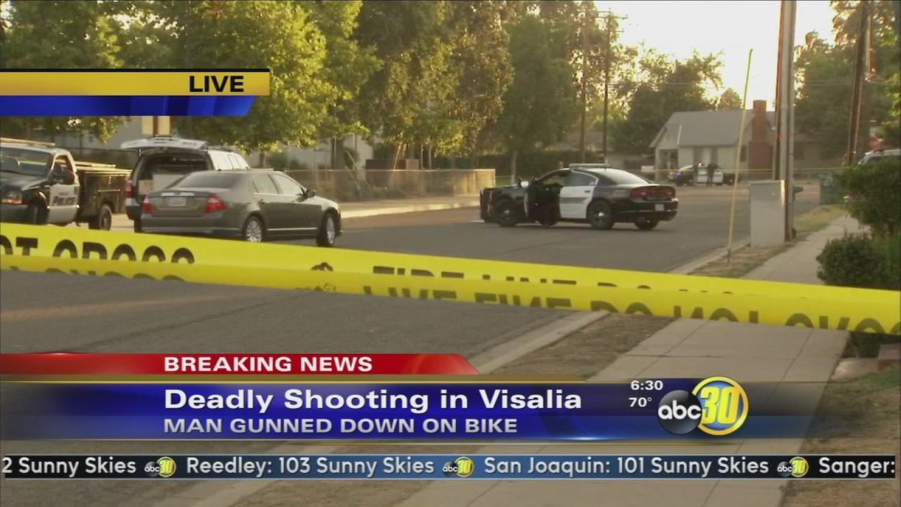 Visalia police investigating a homicide after a man was found shot in street
