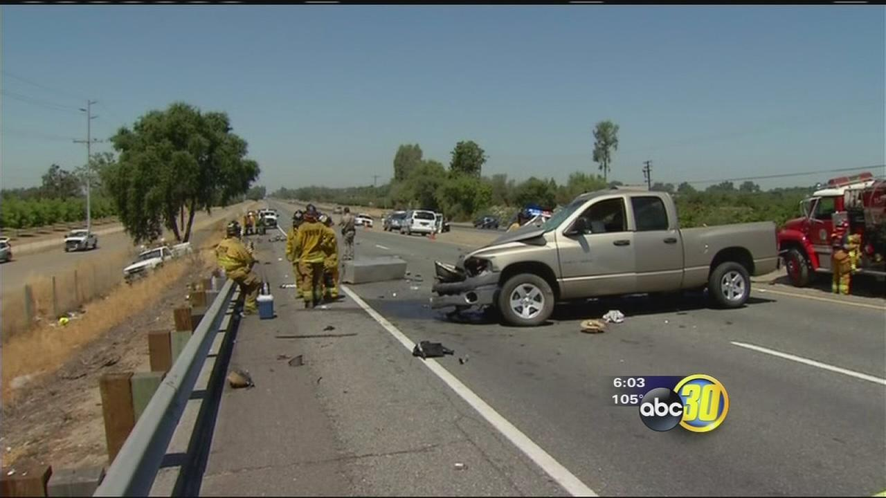 One killed after truck collides with Caltrans vehicle near Visalia