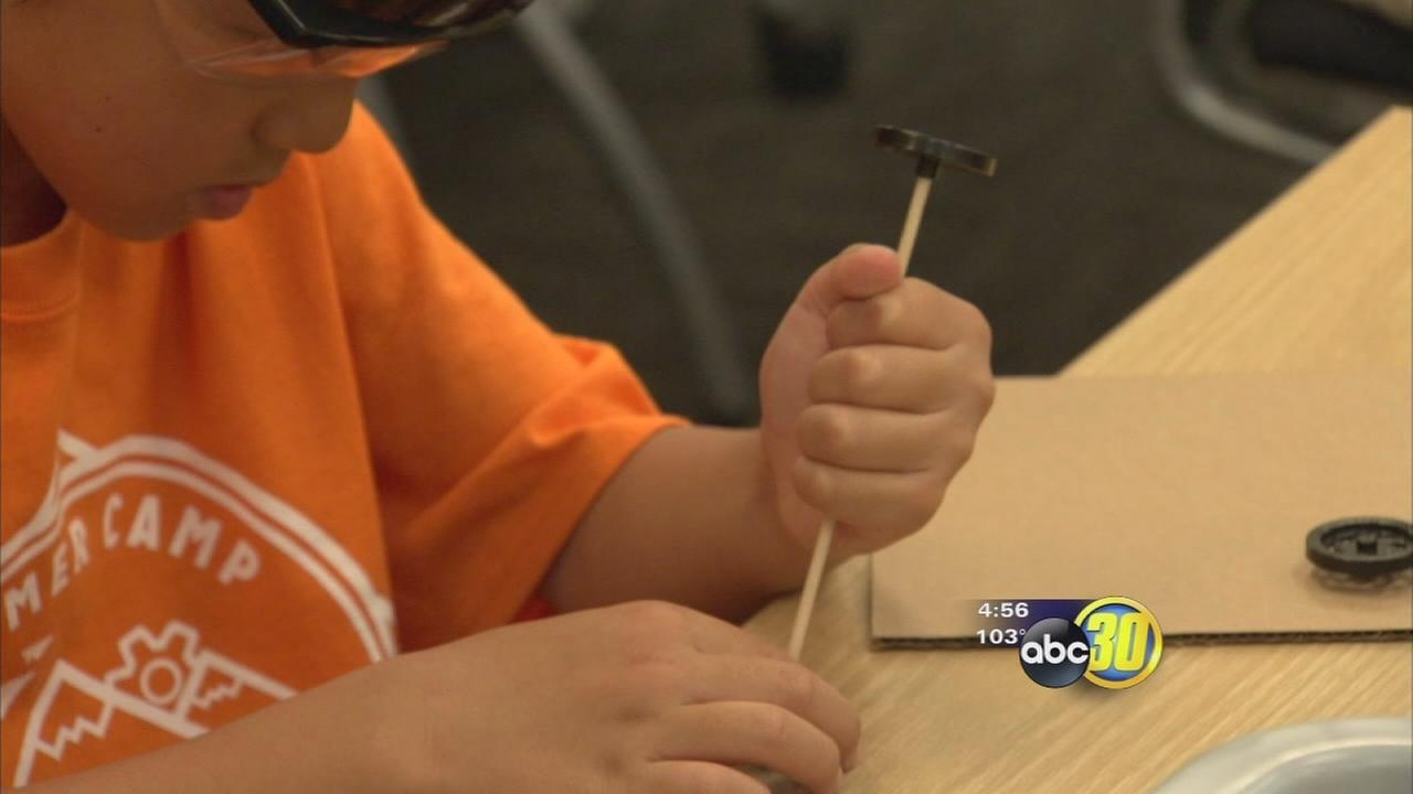 Students in Northeast Fresno spending their summer having fun learning