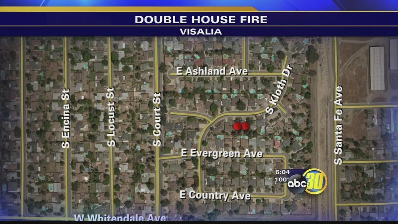 Firefighter hurt while battling Visalia house fire