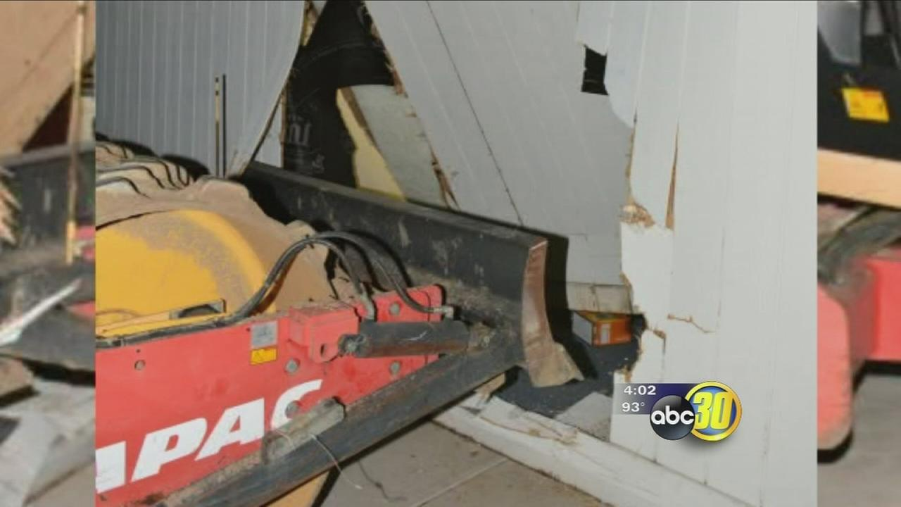 Teens use tractor to break into school district building, police say