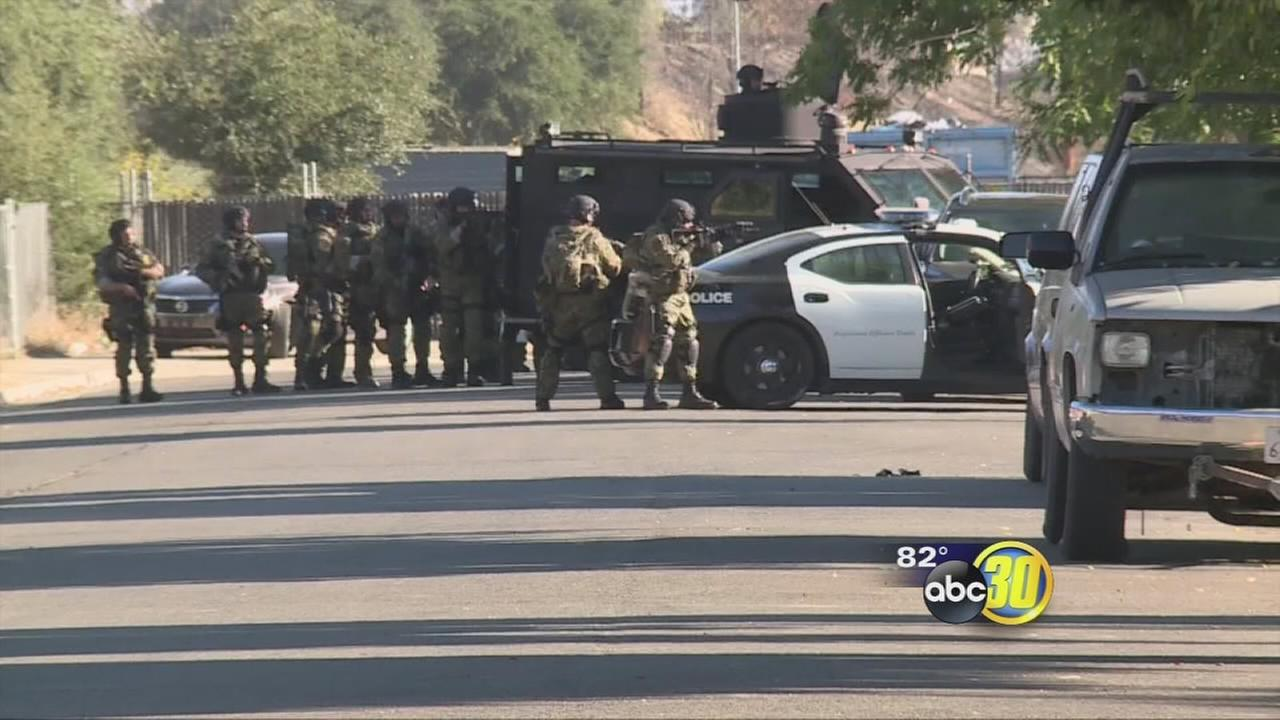 Fresno Police stage gang take down