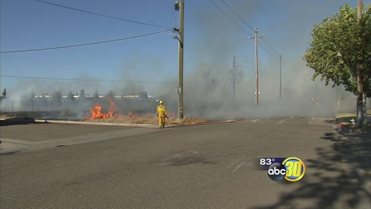 Another fire sparked near Hwys 99 and 180