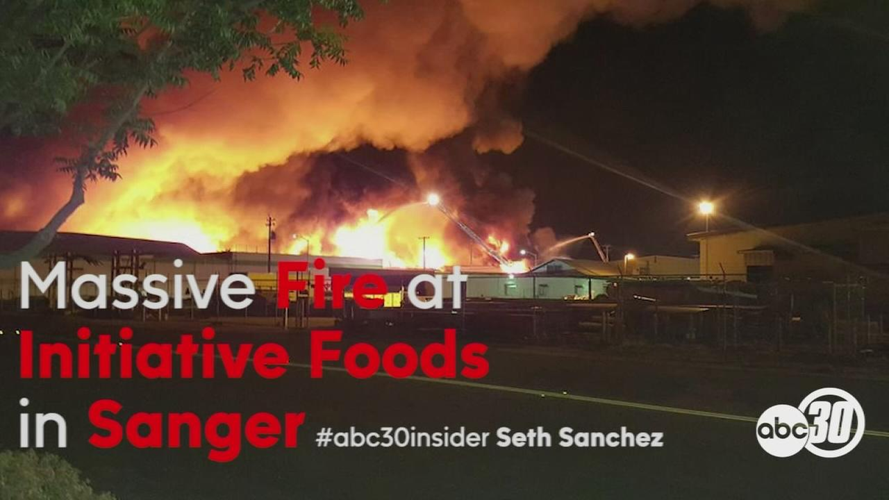 Massive fire destroys Sanger baby food producer Initiative Foods