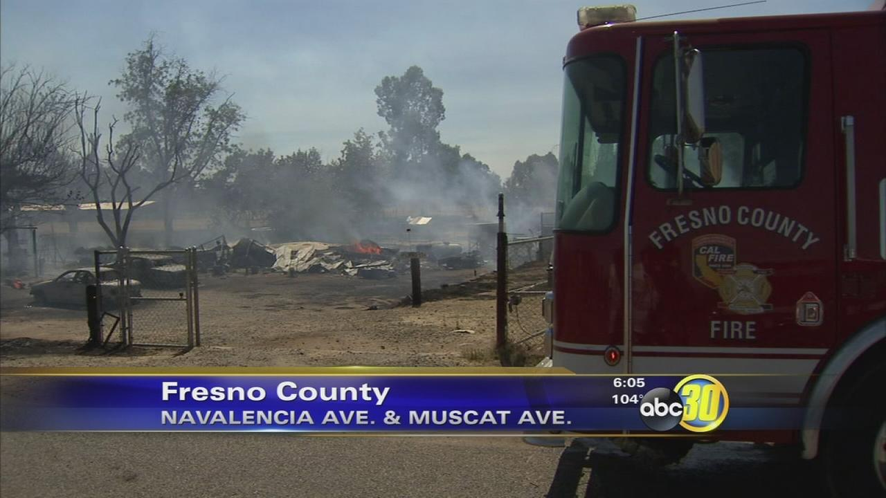 Fire destroys trailer in Fresno County