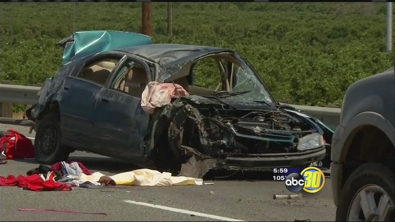 Suspected burglars hurt after high-speed chase through Tulare County ends in crash