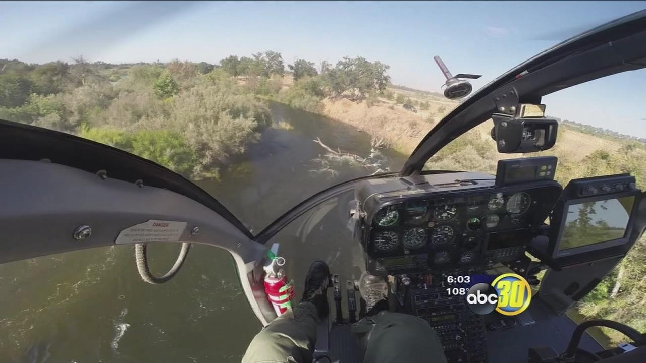 Fresno County Sheriffs helicopter crew rescue teen from river