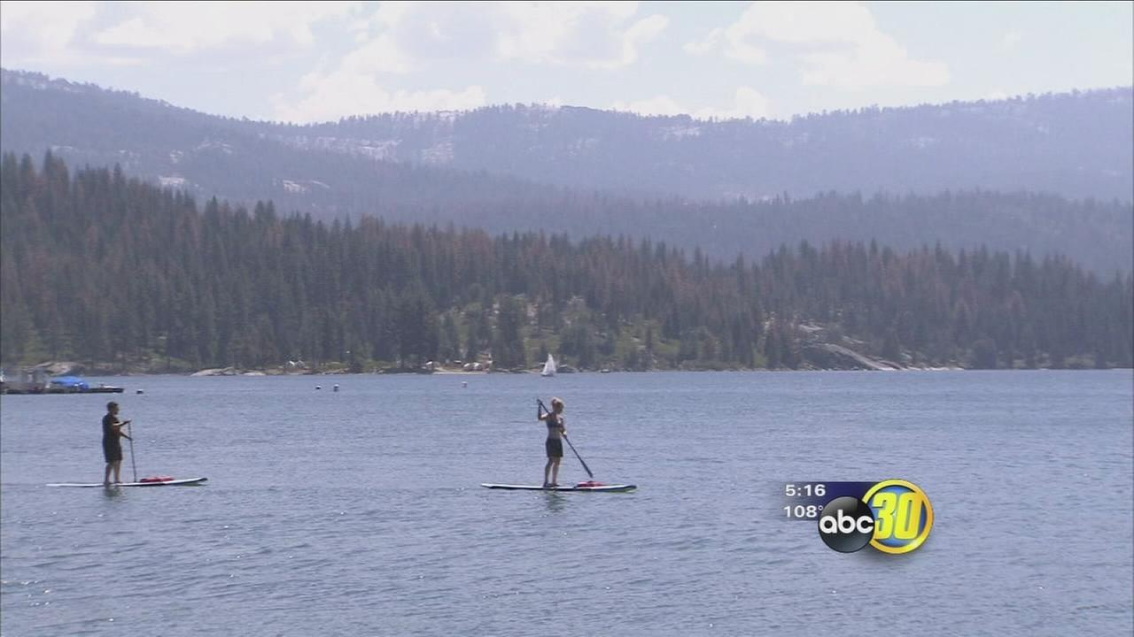 Valley residents escape heat in the mountains