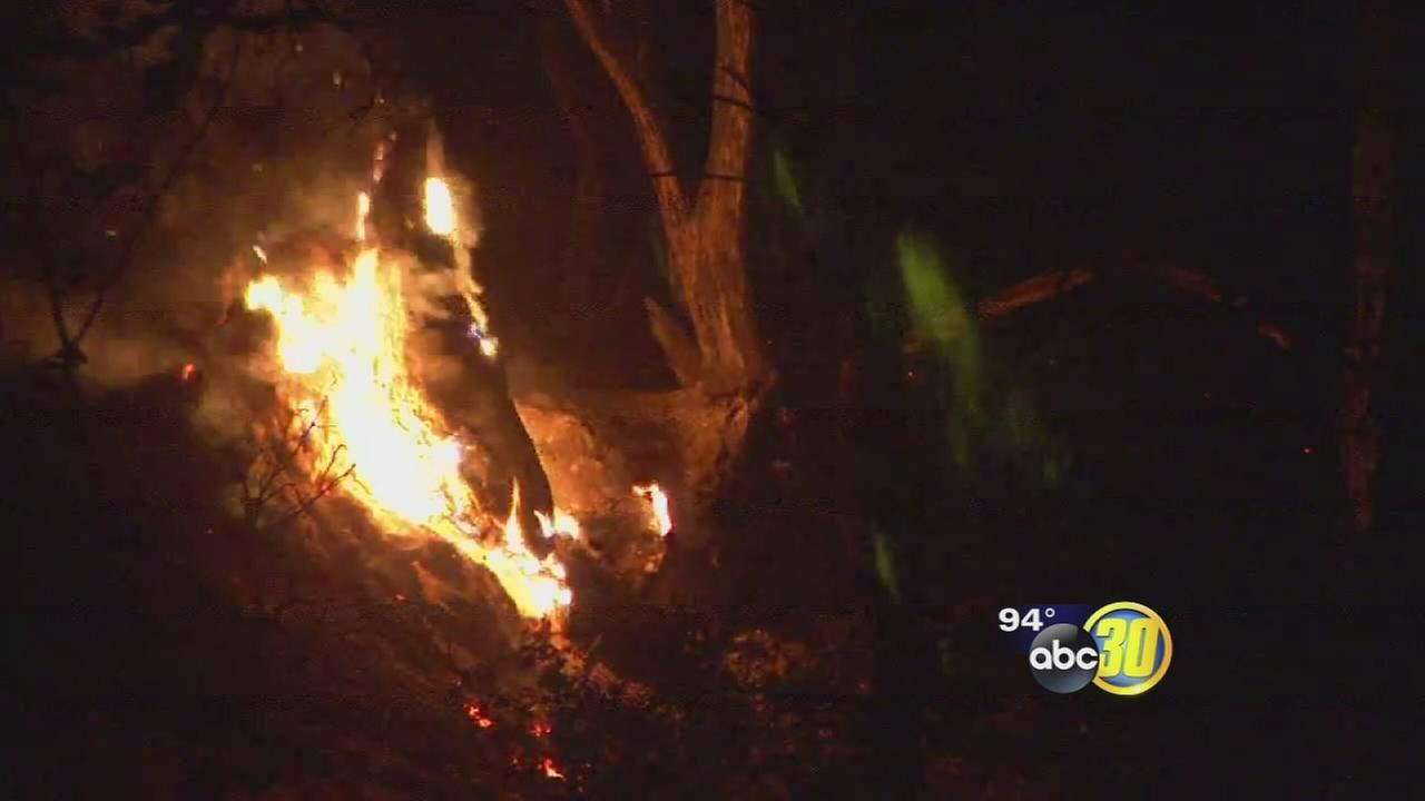 Wildfire forces evacuations in Madera County