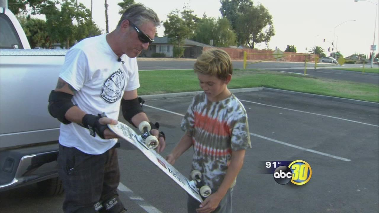 Fresno man using used skateboards to give back to the community