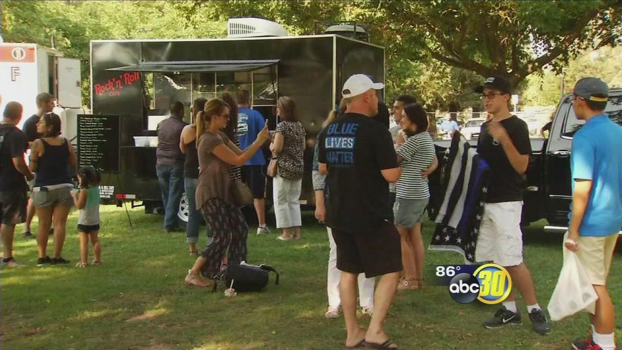 Thin Blue Line rally draws thousands to Woodward Park