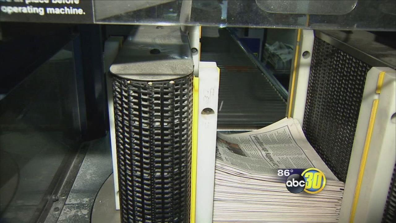 Fresno Bee ends local printing operation as production moves to Sacramento