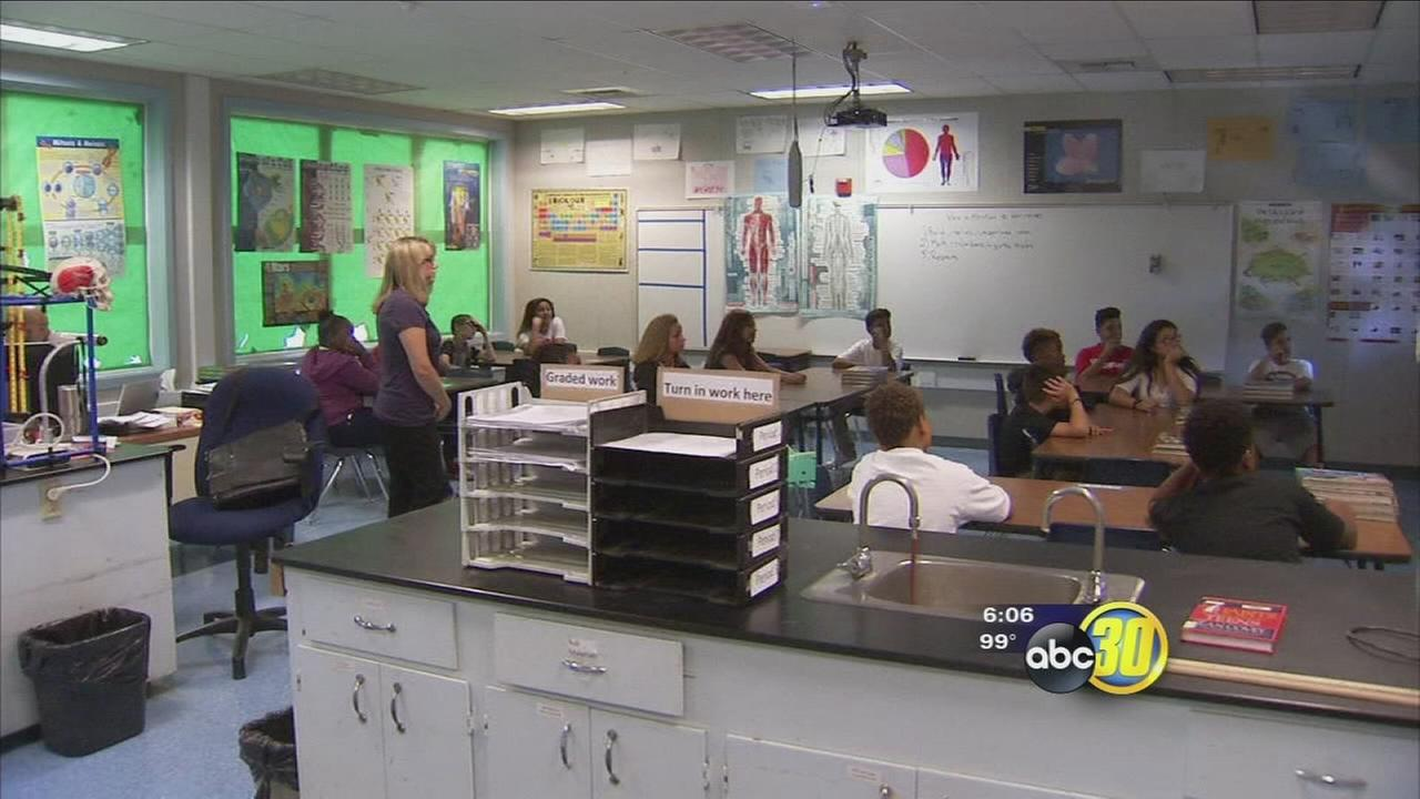 Students at one North Valley school district are back in class and beating the heat