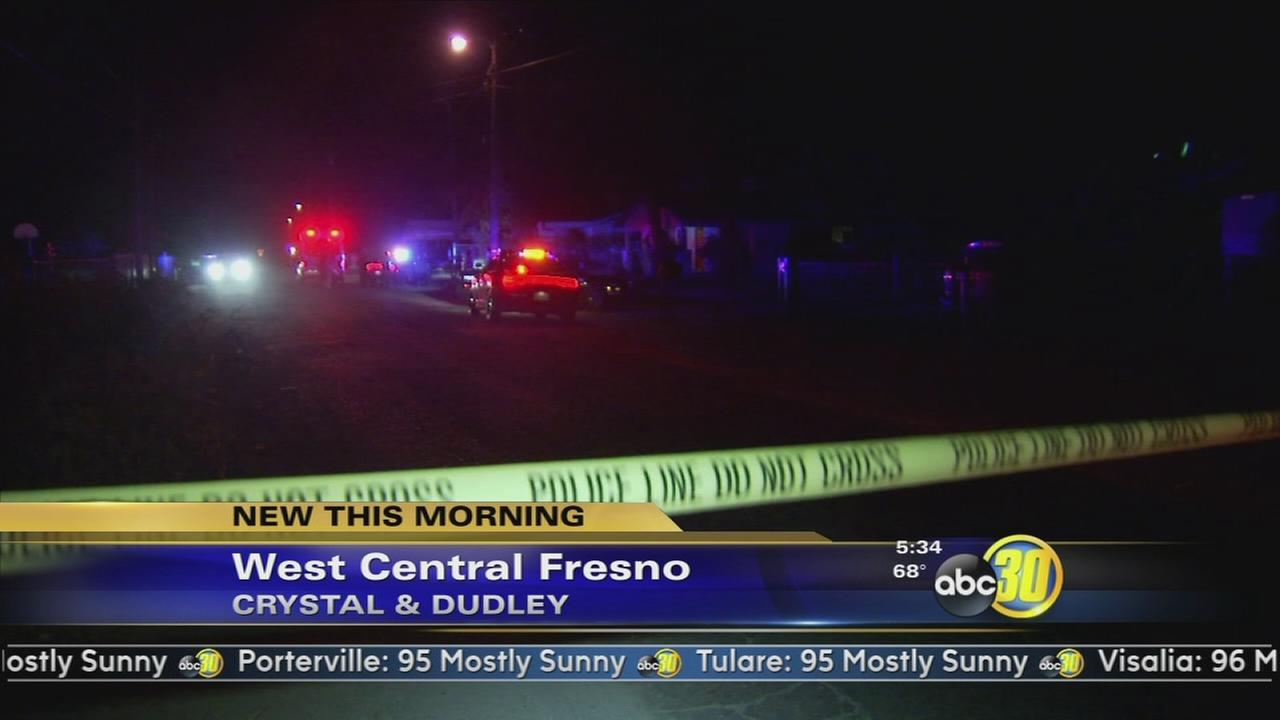 Detectives are looking for clues in a West Central Fresno shooting