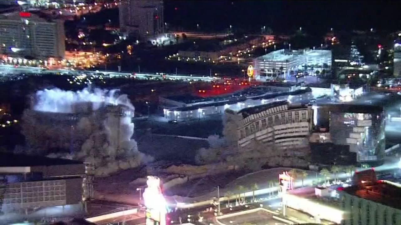 The Riviera demolished on Las Vegas strip