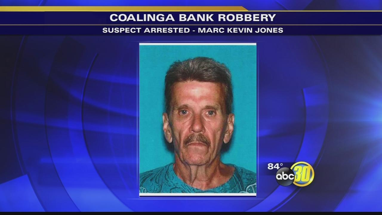 60-year-old man arrested for robbing bank in Coalinga