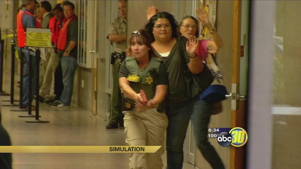 Tulare County officials hold first of its kind active shooter drill at Visalia courthouse